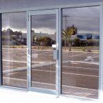 Reflective glass doors installation